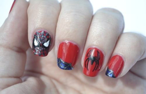 31DC-Day-1-Spiderman nails-1