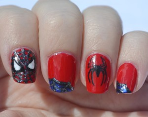 31DC-Day-1-Spiderman nails-2