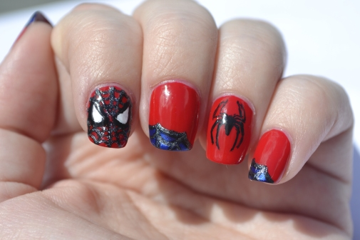 31DC-Day-1-Spiderman nails-3