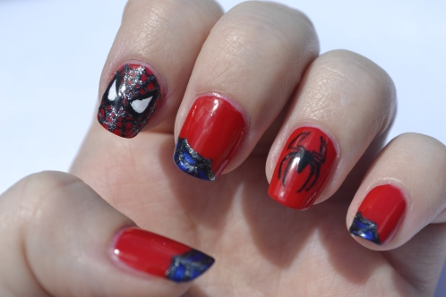 31DC-Day-1-Spiderman nails-5