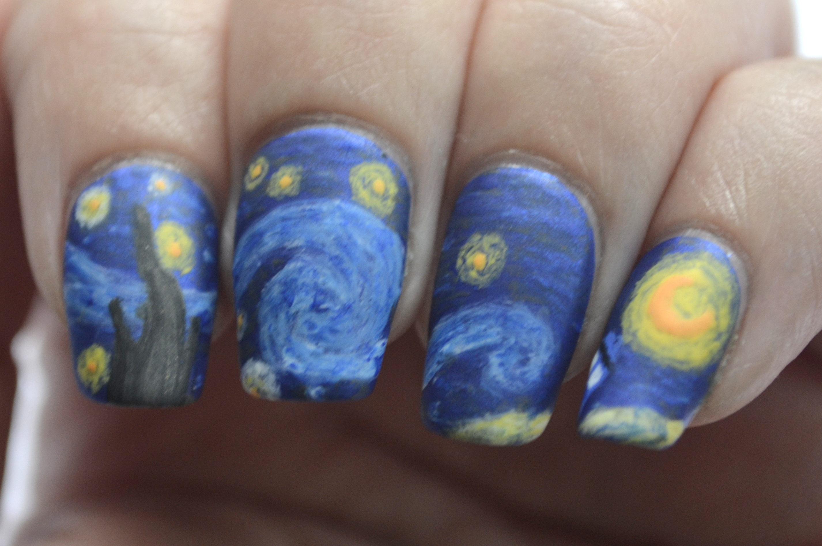 Starry Night Nails The Final Frontier