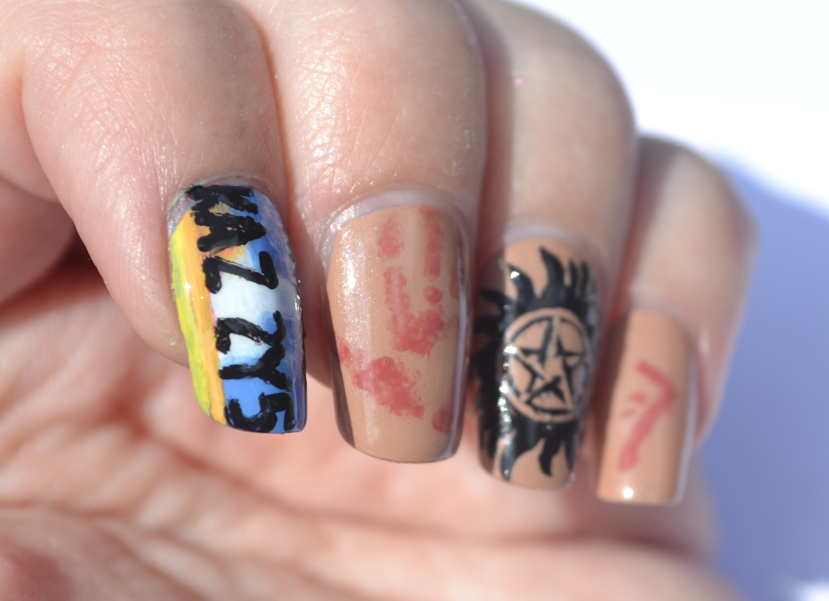 Supernatural nails nails the final frontier 31dc day 29 supernatural nails 2 prinsesfo Image collections