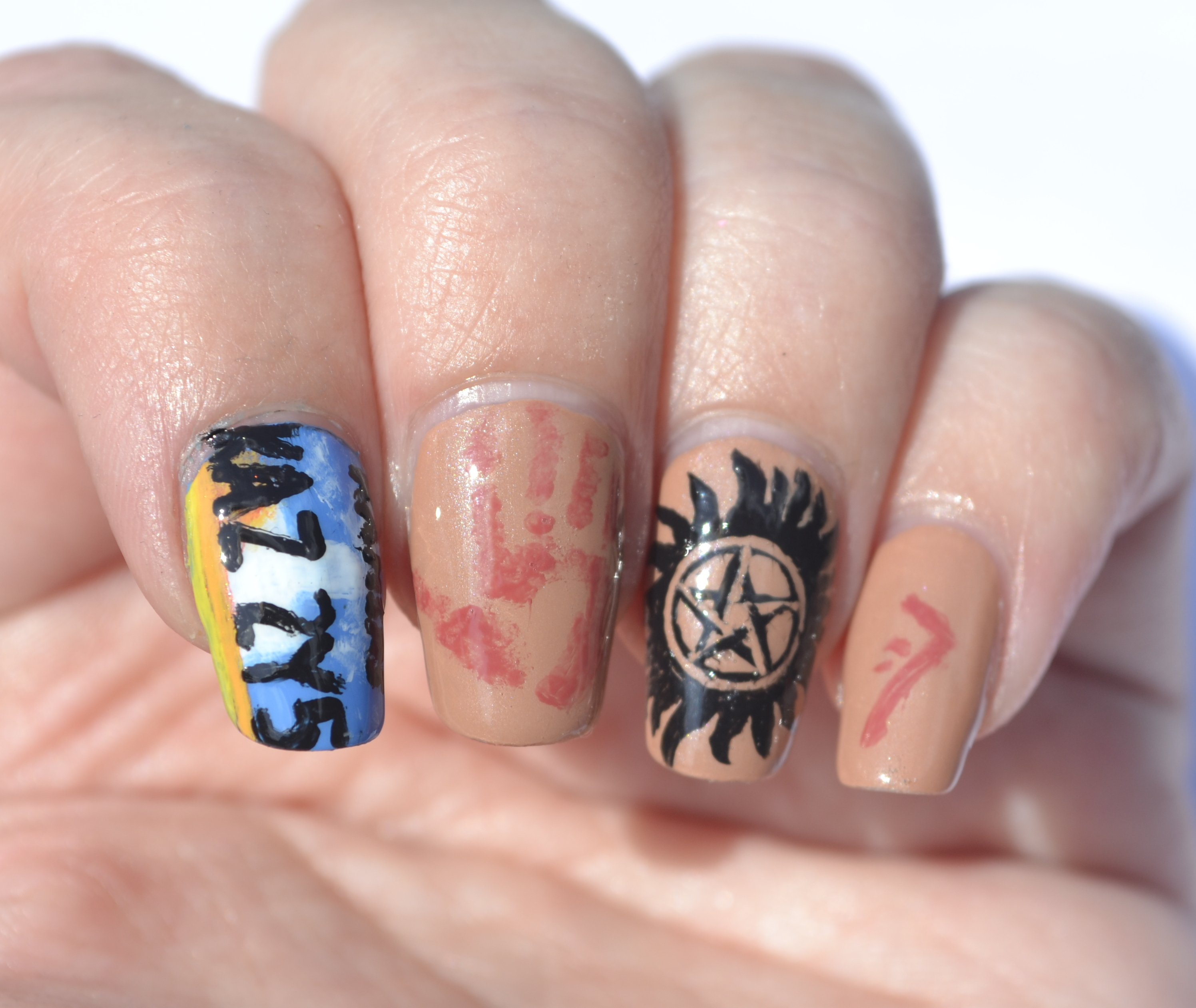 31 day challenge day 29 inspired by the supernatural nails the 31dc day 29 supernatural nails 3 prinsesfo Image collections