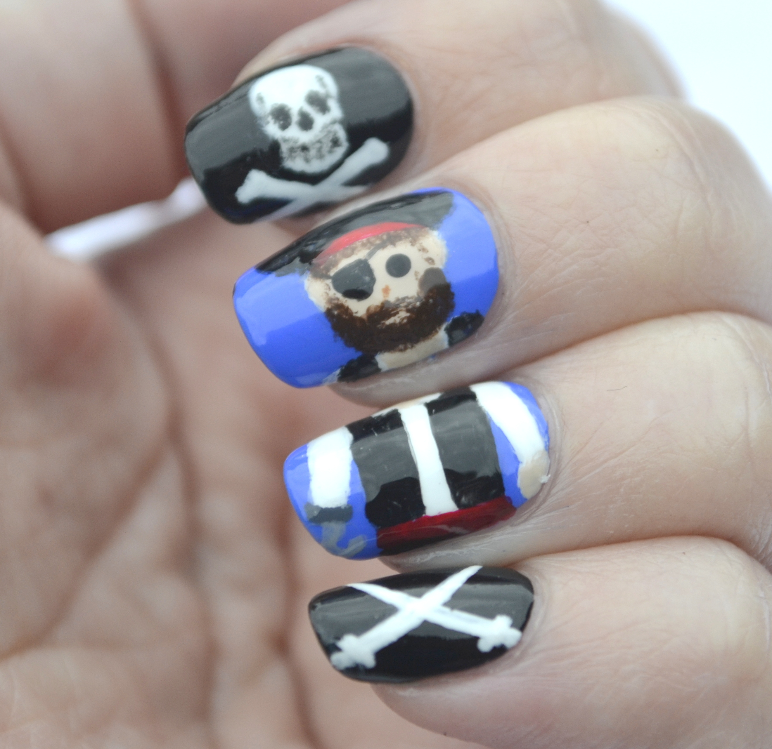 Challenge Your Nail Art, Avast Ye Bilge Rats! Freestyle! | Nails ...