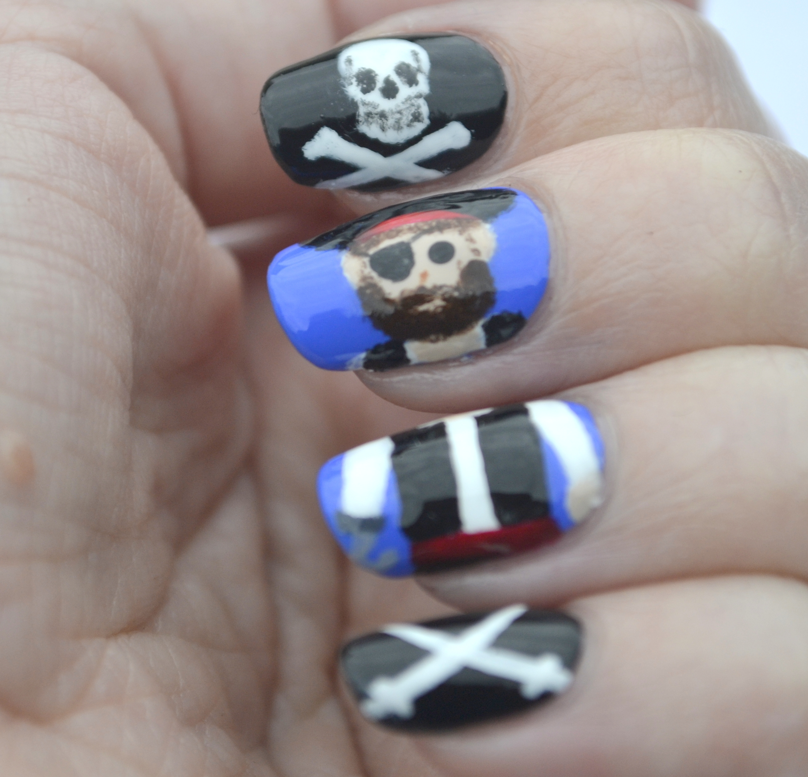 pirate nail art | Nails, the Final Frontier
