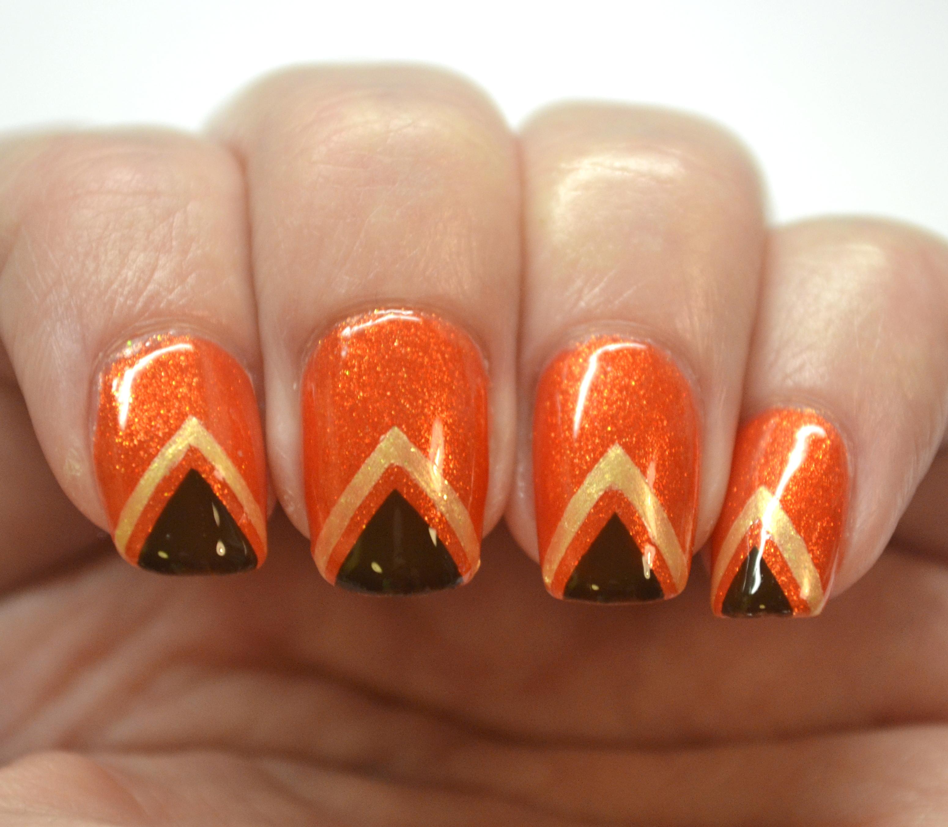 Blogger Bragger Autumn Nail Art Challenge Week 2 Orange Nails