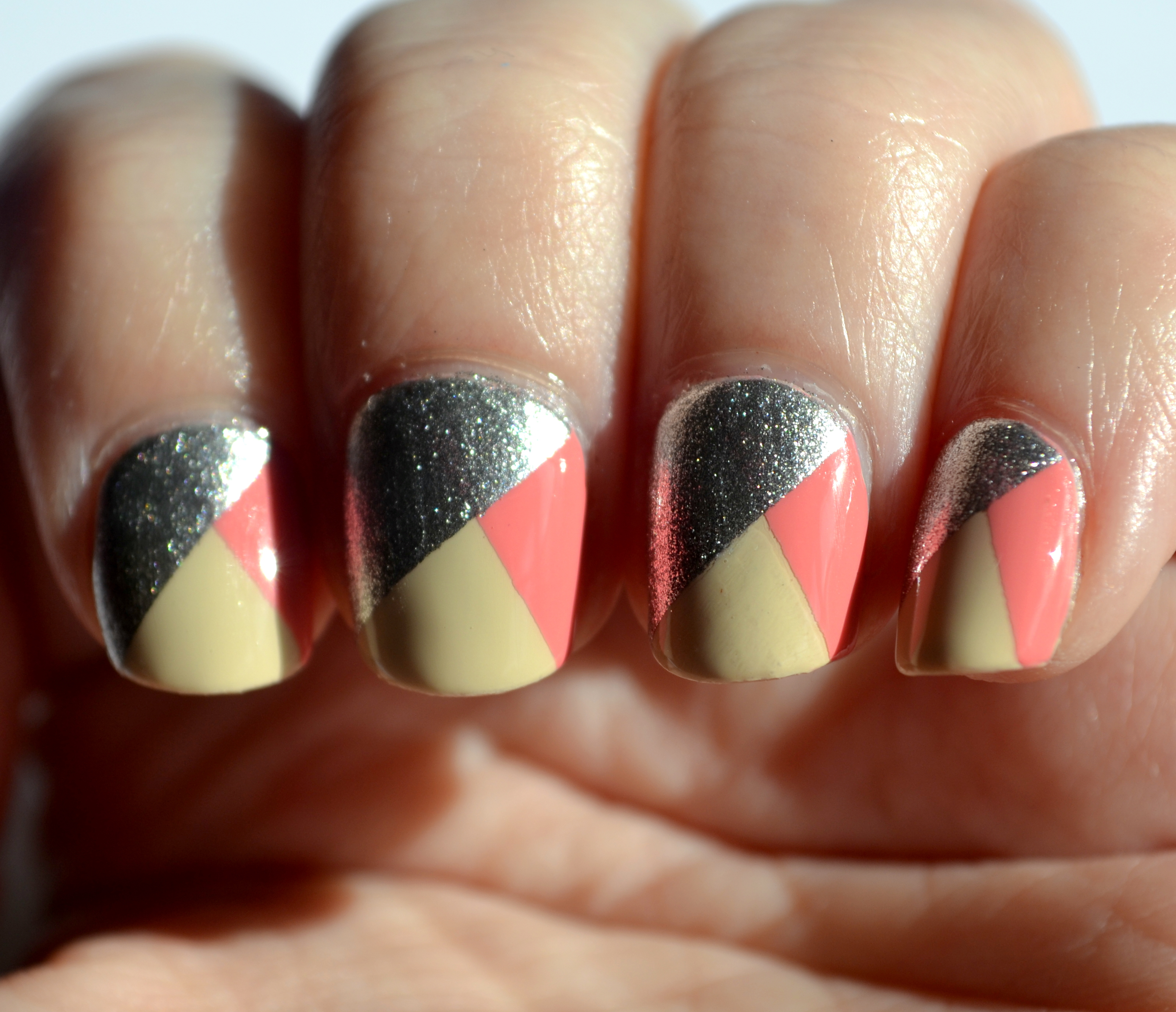 Opi Tri Color Nail Art Nails The Final Frontier