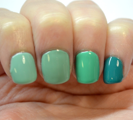 Teal-ombre