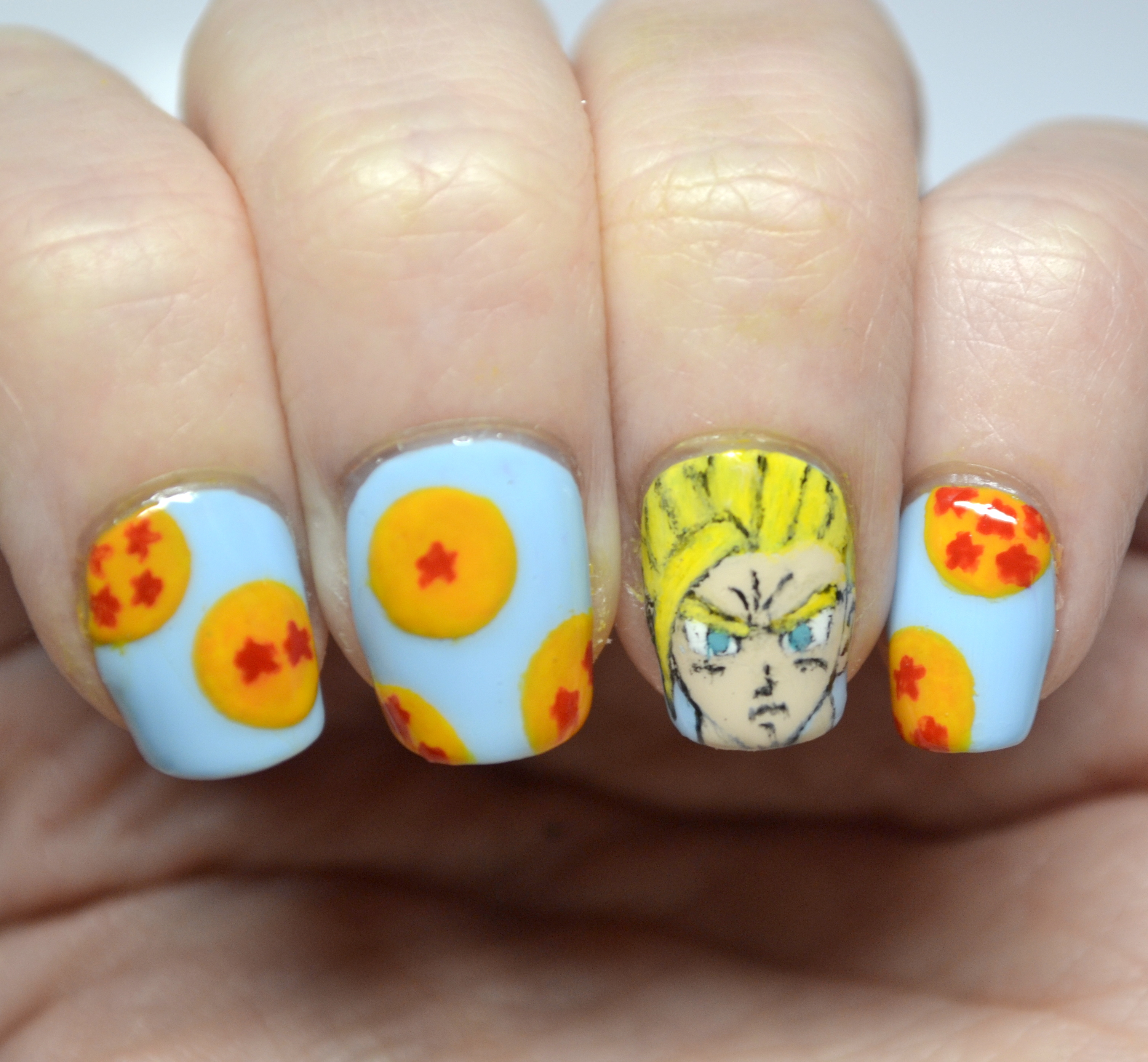 Dragon Ball Z nails! | Nails, the Final Frontier